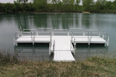 Fishing Dock with Different Rail Heights