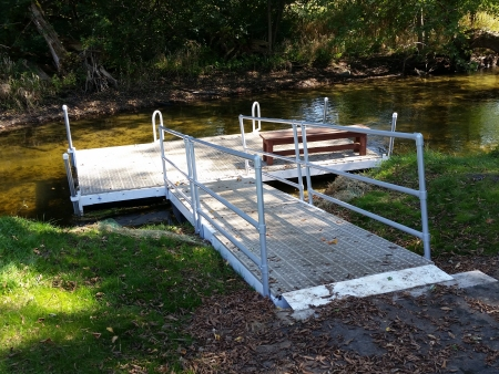 Stationary Dock Platform for Kayak Launching