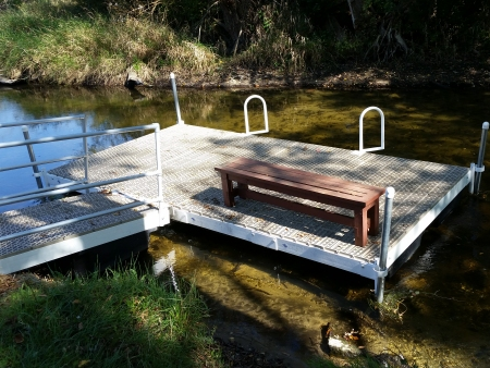 Kayak Platform with Boarding Assist Loops