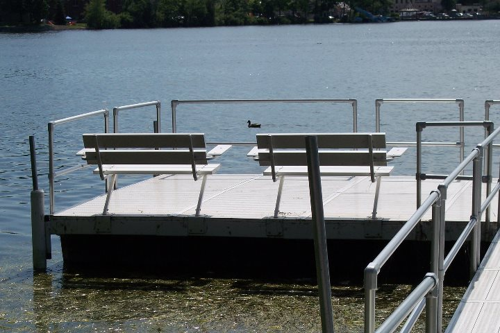 Mod-U-Dock Floating Dock with Benches